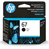 Original HP 67 Black Ink Cartridge   Works with HP DeskJet 1255, 2700, 4100 Series, HP ENVY 6000, 6400 Series   Eligible for