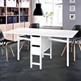 Artiss Extendable Table Dining Change Convertable Folding Storage Drawers