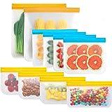 Yuztousp Reusable Storage Bags, Waterproof Leakproof Freezer Bags 10 Pack, 2 Reusable Gallon Bags + 4 Reusable Sandwich Bags