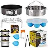 Accessories-Set-for-Insta-Pot, Accessory Compatible with Instant Pot 6 Qt 8 Quart, with Steamer Basket Cheesecake Pan Egg Ste