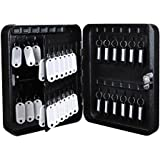 Yescom 48 Hooks Solid Steel Key Safe Storage Cabinet Box Case Wall Mountable with Tags Black