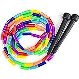 K-Roo Sports Rainbow 7-Feet Jump Rope with Plastic Beaded Segmentation