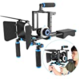 Neewer Aluminum Alloy Film Movie Rig System Kit for Canon Nikon Sony and other DSLR Cameras,Includes:(1)Video Cage,(1)Top Han