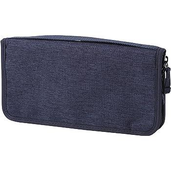 無印良品 ポリエステルパスポートケース 杢ネイビー・約23.5×12.5