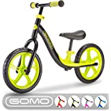 GOMO Balance Bike - Toddler Training Bike for 18 Months, 2, 3, 4 and 5 Year Old Kids - Ultra Cool Colors Push Bikes for Toddl