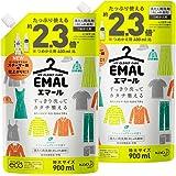 【Amazon.co.jp 限定】【まとめ買い】エマール(EMAL)洗濯洗剤 液体 リフレッシュグリーンの香り 詰め替え900ml*2個