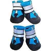 Leeko 犬 靴 シューズ ブーツ 雨靴 防水 ペットの靴 履かせやすい 丈夫 散歩 介護 肉球保護 足元の汚れ防止…