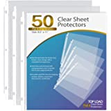 Ktrio Sheet Protectors 8.5 x 11 Inches Clear Page Protectors for 3 Ring Binder, Plastic Sleeves for Binders, Top Loading Pape