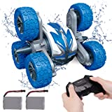 REMOKING Waterproof RC Stunt Car for Kids,2.4Ghz Amphibious All Terrain 6WD High Speed Remote Control Car, Double Sided 360°