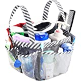 AUMA Mesh Shower Caddy Tote, Portable College Dorm Bathroom Tote, Quick Hold for Camp Gym, 8 Basket Pockets with Key Hook and
