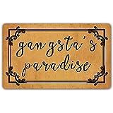 DoubleJun Funny Doormat Gangsta's Paradise Entrance Mat Floor Rug Indoor/Outdoor/Front Door Mats Home Decor Machine Washable