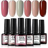 TOMICCA Gel Nail Polish Set 6 Colour Collection, Soak Off UV LED (C)