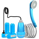 innhom Portable Shower Camping Shower Outdoor Camp Shower Pump, Electric Rechargeable Portable Camping Shower, Powered by Rec
