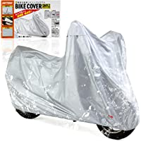 デイトナ バイクカバー 汎用 3Lサイズ 撥水加工 湿気対策 耐熱 チェーンホール付き バイクカバーシンプル シルバー…