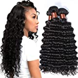 BLACKMOON HAIR Brazilian Virgin Hair Deep Wave Bundles 3 Bundles Unprocessed Virgin Remy Human Hair Extension Deep Curly Hair