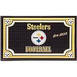 Team Sports America 41EM3824 Embossed Door Mat, Pittsburgh Steelers