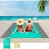 ISOPHO Beach Blanket, 79''×83'' Beach Blanket Waterproof Sandproof for 4-7 Adults, Oversized Lightweight Beach Mat, Portable