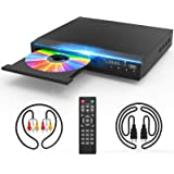 DVD Player for TV, DVD CD Player with HD 1080p Upscaling, HDMI & AV Output (HDMI & AV Cable Included), All-Region Free, Coaxi
