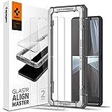 Spigen AlignMaster ガラスフィルム Sony Xperia 10 III 用 ガイド枠付き ソニー Xperia10 iii 対応 保護 フィルム 2枚入