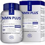 Maximum Strength NMN Capsules, 300mg Per Capsule, Stabilized Form, Naturally Boost NAD+ Levels for Mental Performance, DNA Re