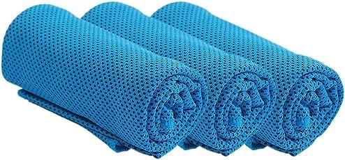 アポロン ひんやり 冷感タオル 熱中症対策 スポーツタオル 高吸水 冷却タオル 軽量で持ち運びにも便利 4色 各3枚セット