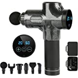 Massage Gun,Deep Tissue Percussion Muscle Massager 30 Speeds, Cordless Handheld Vibration Percussive Therapy Gun with Portabl