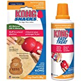 KONG - Bacon and Cheese Treats Combo Pack - Easy Treat Paste and Dog Snacks - for Large Dogs