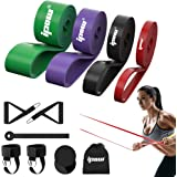IPOW Resistance Bands Set 11 PCS Pull Up Assist Bands Multi-Use Loop Bands Kit with Handles Ankle Straps Door Anchor Core Sli