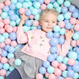 TRENDBOX 100 Macaron Ocean Ball (Ship from USA) for Babies Kids Children Soft Plastic Birthday Parties Events Playground Game