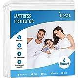 DMI Zippered Plastic Mattress Protector, Waterproof Mattress Cover, Hypoallergenic Twin Size, White