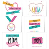 TUPARKA Greeting Cards with Envelopes,6 Assorted Unique Designs For Mother's Day
