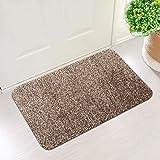 Indoor Super Absorbent Doormat - 2 in Pack. Non Slip Rubber Backing Door Mat for Front & Back Doors Dirt Trapper Cotton Micro
