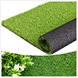 """Artificial Grass Thick Turf (1.38"""" Custom Sizes) Multi-use Fake Pet Grass Indoor/Outdoor Rug Synthetic Lawn Carpet,Faux Grass"""