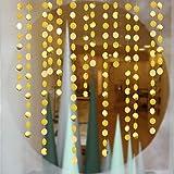 Gold Circle dots Garland Party Decorations Paper Polka Dots Streamers Hanging Decor Backdrop Bunting for Wedding/Birthday/Bab