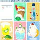 13513/もなか 夏のポストカード【5柄セット】はがき/ハガキ/葉書/郵便/イラスト
