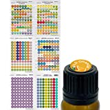 Essential Oil Labels Beautifully Illustrated Lid and Cap Stickers for EO Aromatherapy Bottles. Includes 2018, 2019 Convention