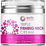 ACTIVSCIENCE Neck Firming Cream, Anti Aging Moisturizer for Neck & Décolleté, Double Chin Reducer, Skin Tightening Cream 2 fl