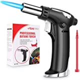 Vimzone Butane Torch, Blow Torch Refillable Kitchen Culinary Torch Lighter with Safety Lock and Adjustable Flame for BBQ, Bak