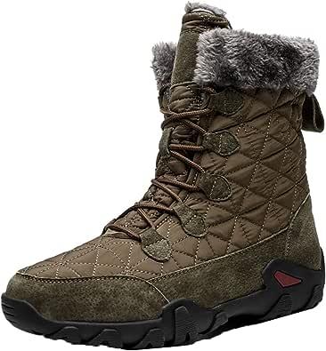 [LSDZW] スノーシューズ メンズ 防水 防寒 トレッキングブーツ 裏ボア 冬靴 耐衝撃性 スノーブーツ 滑り止め ハイキングシューズ アウトドアブーツ ウィンターブーツ スノトレ 長靴 レースアップ ショートブーツ 厚底 滑らない 冬 靴 雪対応