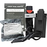 MediTac Gen 2 Deluxe Combo IFAK Kit - Feat. Tourniquet and Holder, Vented Chest Seal, Emergency Hemostatic Control Bandage an