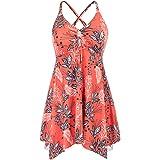 Hanna Nikole Women Plus Size One Piece Swimwear Flowy Swimdress Skirted Swimsuit