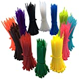 1200 Pieces Zip Ties, Multi-Purpose Assorted Colored Self-Locking Nylon Cable Zip Ties in 12 Different colour for Home Office