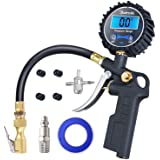AstroAI Digital Tire Inflator with Pressure Gauge, Medium 250 PSI Air Chuck and Compressor Accessories Heavy Duty with Rubber