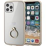 エレコム iPhone 12 / 12 Pro ケース ハイブリッド 耐衝撃 TOUGHSLIM LITE フレームカラー リング付 アイボリー PM-A20BTSLFCRIV