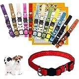 GAMUDA Puppy Collars – Super Soft Velvet Whelping Puppy ID - Adjustable Breakaway Litter Collars Pups – Assorted Colors Plain