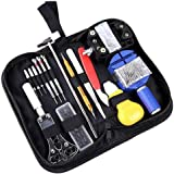 Haobase 147 PCS Watch Repair Tool Kit Case Opener Spring Bar Tool Set Bonus A Hammer