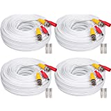 WildHD 4x200ft BNC Cable All-in-One Siamese Video and Power Security Camera Cable Extension Wire Cord with 2 Female Connetors