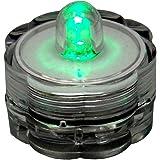 BlueDot Trading Submersible Tea Lights, Green, 12-Pack