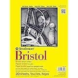 "Strathmore 342-109 300 Series Bristol Vellum Pad, 9""x12"", Tape Bound 20 Sheets"
