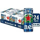 Heineken 0.0 Zero Alcohol Beer Can, 320ml (Pack of 24)